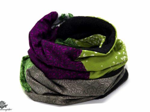 Schal grün lila