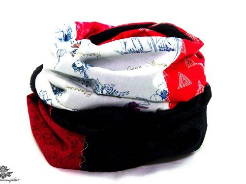 Schal rot schwarz