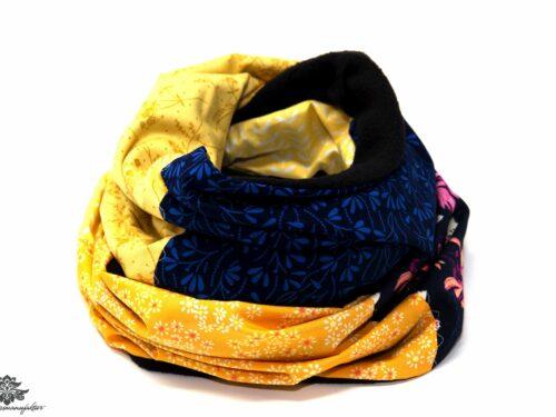 Winter-Schal Damen blau gelb