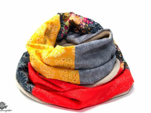 Winter-Schal Damen grau orange