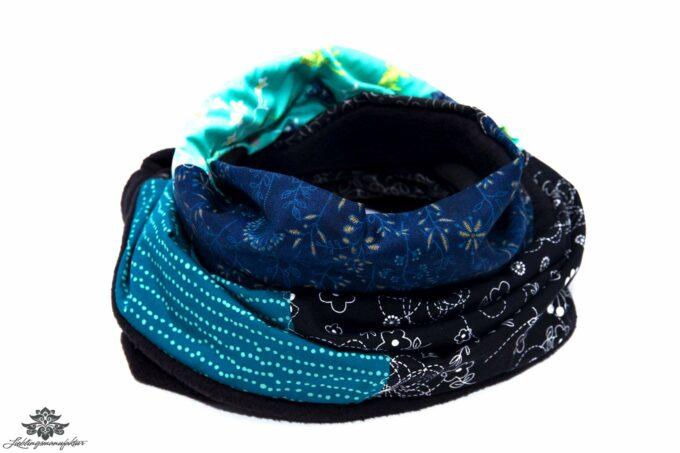 Winter-Schal Damen mint dunkelblau