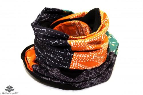 Winter-Schal Damen orange braun