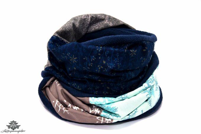 Winter-Schal hellblau beige