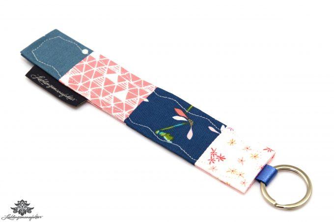 Patchwork Schlüsselanhänger rosa blau