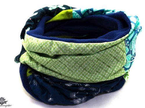 Schal blau mint grün