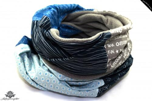 Schal grau blau hellblau