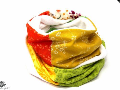 Schal grün gelb orange