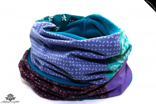 Schal lila blau türkis