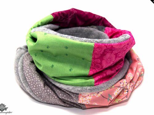 Schal rosa beige grün