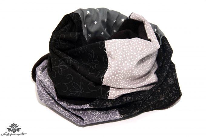 Schal schwarz beige grau