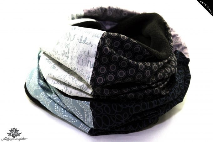 Schal schwarz weiss grau