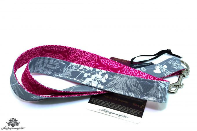 Schlüssel verlegt Schlüsselband pink grau