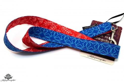 Schlüsselband rot blau