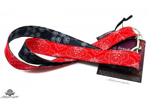 Schlüsselband rot schwarz