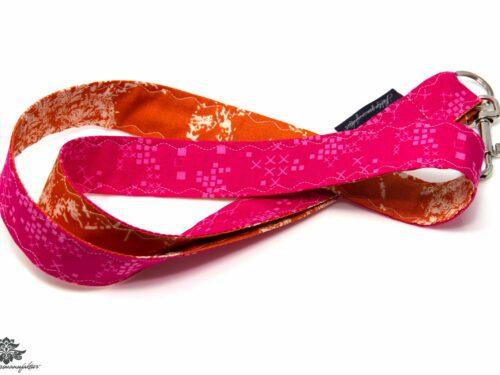 Schlüssel einfach finden Schlüsselband orange pink