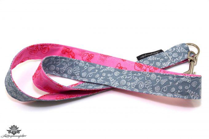 Schluessel wiederfinden Schluesselband rosa grau