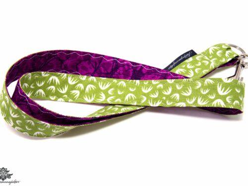 Schlüsselband lila grün