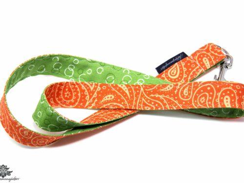 Schlüsselband orange grün