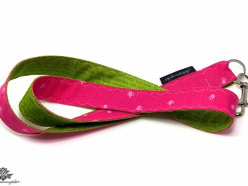 Schlüsselband pink grün