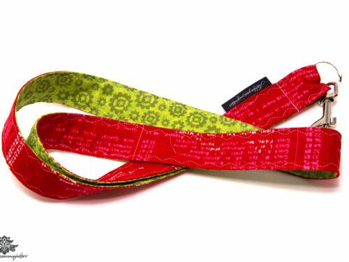 Schlüsselband rot grün