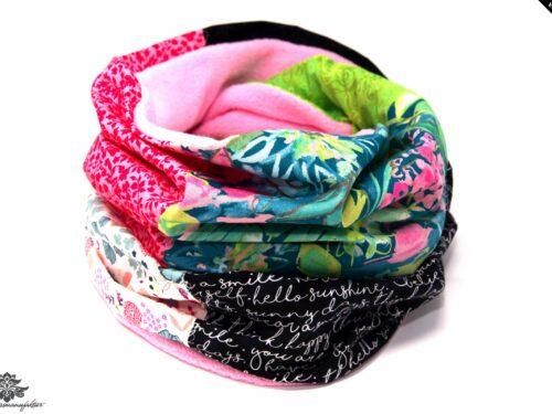 Winter Schal Damen blau pink grün