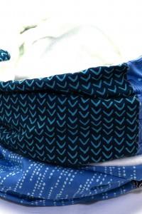 Winter Schal Damen blau weiss