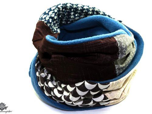 Winter Schal Damen braun blau