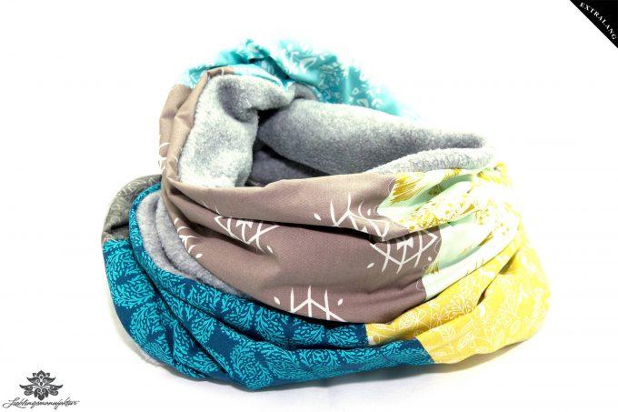 Winter Schal Damen grau beige blau