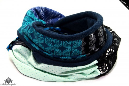 Winter Schal Damen schwarz blau