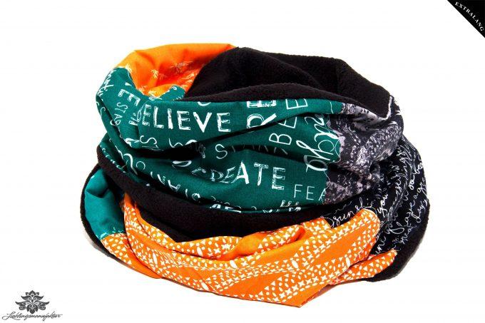 Winter Schal Damen schwarz grün