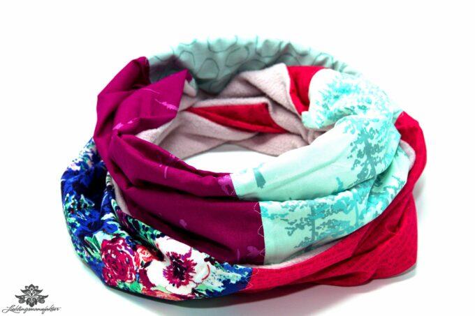 Winter Schal Damen türkis eisblau