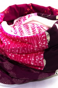 Winterschal Damen lila pink