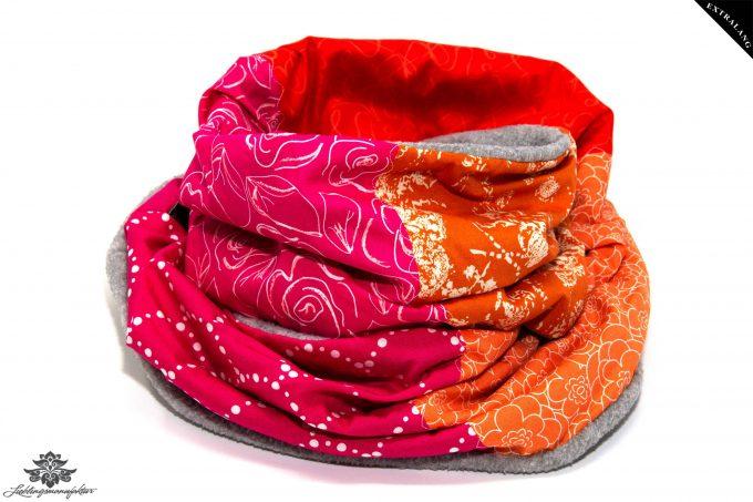 Winterschal Damen pink orange