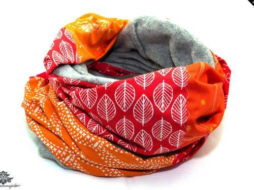Winterschal Damen rot orange
