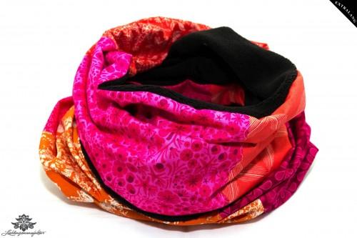 Winterschal Damen rot pink