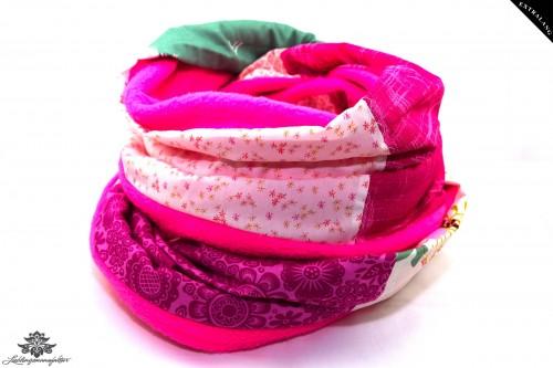 Winterschal rosa pink