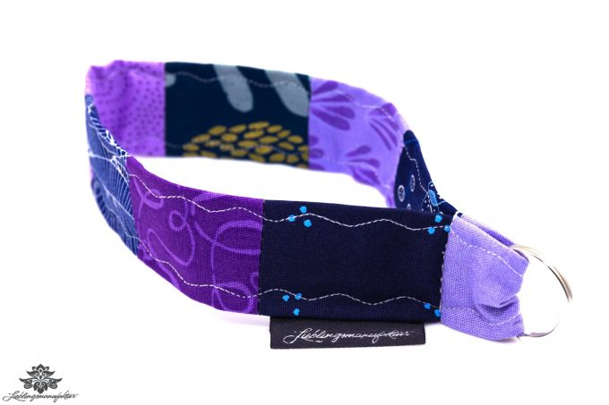 Schlüsselband Arm lila blau