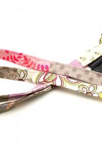 Schlüsselband rosa beige