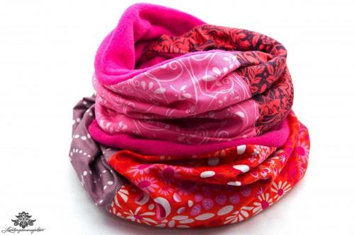 Schal pink lila