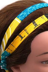 Haarband Punkte Blumenmuster