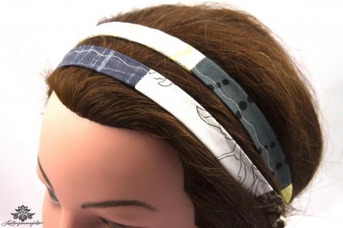Haarband gelb grau 2