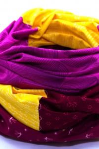 Pink gelbes Tuch