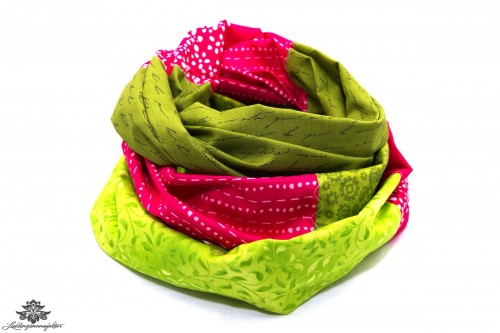 Pink grünes Tuch