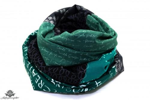 Schwarz grünes Tuch