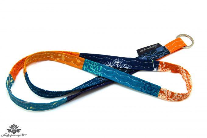 Dünnes Schlüsselband blau