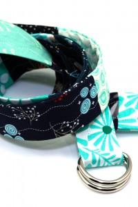 Gürtel Stoff türkis blau