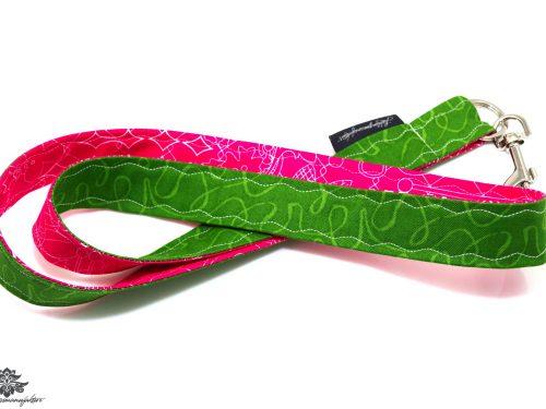 Lanyard Karabiner grün pink