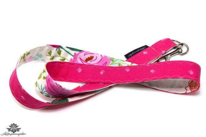 Lanyard Karabiner pink weiss