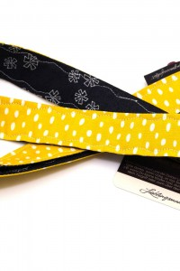 Lanyard Karabiner schwarz gelb
