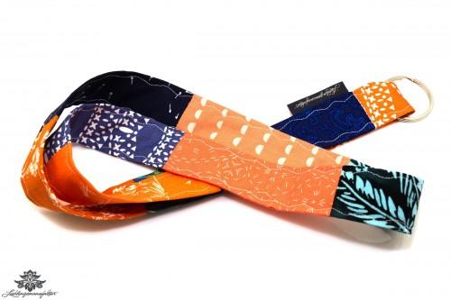 Lanyard Schlüsselband blau apricot orange